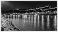 Namur Night - 4709 (YᗩSᗰIᘉᗴ HᗴᘉS +15 000 000 thx) Tags: bw noiretblanc blackandwhite monochrome meuse namur river bridge hensyasmine belgium europa aaa namuroise look photo friends be saariysqualitypictures wow yasminehensinterest intersting eu fr greatphotographers lanamuroise fujifilmgfx50s fuji 7dwf