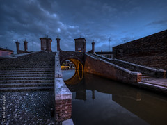 Comacchio, Italy (Mia Battaglia photography) Tags: village water nightscape night hdr comacchio italy exif:model=em1markii camera:make=olympus exif:make=olympus exif:aperture=ƒ28 exif:isospeed=1250 exif:lens=olympusm714mmf28 camera:model=em1markii exif:focallength=7mm bluehour