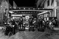 N-O-16a (Agirard) Tags: neworleans jazz bar blackandwhite bw noiretblanc zeiss louisiana bourbonstreet bourbon street batis18 batis sony a7ii people musician