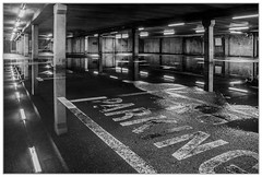 No Parking (EddieAC) Tags: car park reflections reflection lights blackandwhite
