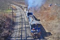 pennsylvania551 (Fan-T) Tags: union emd mp15 smoking duquesne grad jointed rail steel scrap slab pa
