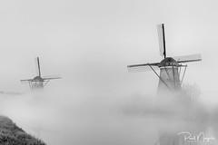 The Fog.. (Paul Nagels) Tags: mill windmill fog kinderdijk