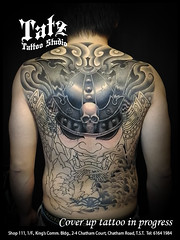 201803181 (tatzstudio) Tags: tatz tattoo studio hong kong kowloon tsimshatsui tst tattoos shop coverup samurai