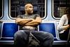 Commuter #2 (Franck_Michel) Tags: commuter subway metro train bald muscle black