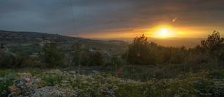 Beautiful Sunset in North of Lebanon
