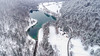 Aerial view Zavrsnica lake (Dreamy Pixel) Tags: aerial beautiful calm cloud color colorful country dark dawn dji drone early fog forest frozen green horizon ice lake landscape light male man mist morning mystery mystical nature orange overcast peace peaceful people phantom4 red reflection river season sky slovenia spring tree valley view water white winter wood yellow zavrsnica zabreznica jesenice si