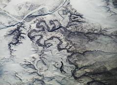 Flint Rock Creek Curving to the Moreau (Sotosoroto) Tags: aerial southdakota river creek canyon snow moreauriver ziebachcounty