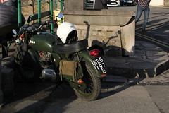 BSA 350 Bullet NEG197E, Ex MoD dispatch Motorcycle at Arnside 24th March 2018 (steamdriver12) Tags: 24th 2018 smoke lancashire england spring sunshine bsa 350 bullet neg197e ex mod dispatch motorcycle arnside march