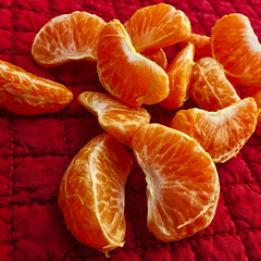 Tangerine Sections (btusdin) Tags: 7daysofshooting week34 multiples colourfulthursday fruit tangerine citrus