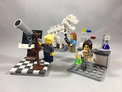 2018-067 - International Women's Day (Steve Schar) Tags: 2018 wisconsin sunprairie iphone iphone6s project365 lego minifigure minifigures researchinstitute internationalwomensday women scientists science telescope magnifyingglass chemist lab fossil dinosaur