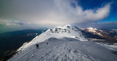 On the top of the world (Alessandro Iaquinta) Tags: landscape canon colours italy italia fullframe dslr eos 5dmarkiii 5d mountain montagna appennino snow trekking adventure friends