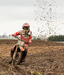36 (kimbenson45) Tags: action brown motion motocross movement mud muddy outdoors red rider sport white