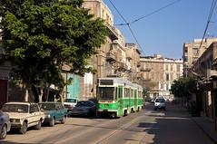 Ganz-Zug 1205/1206 zwischen den Haltestellen St. Catherine-Square und Sidi El Mehwall (Frederik Buchleitner) Tags: 1205 1206 alexandria ganz linie18 misr strasenbahn streetcar tram trambahn aliskandariyya ägypten الإسكندرية مصر