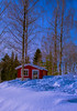 Cottage to rent (evakongshavn) Tags: winter winterwonderland winterlandscape red redcottage cottage redcabin cabin picturesq outside outsidepictures outdoors easter snow sun sundaylights