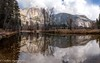 Storm Clouds over Yosemite Falls (OJeffrey Photography) Tags: yosemitefalls mercedriver reflection stormclouds pano panorama river waterfall yosemitenationalpark california ca nikon d850 ojeffrey ojeffreyphotography jeffowens