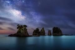South Izu (kbaranowski) Tags: milkyway japan izu island ocean tropical minokakeiwa minamiizu night moonlit