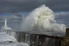 Angry Seas (steve_whitmarsh) Tags: aberdeen scotland storm water sea ocean splash harbour wall waves