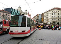 Brno, Náměstí Svobody 21.10.2016 (The STB) Tags: brno tram tramway strassenbahn strasenbahn tramvaj tramvaje publictransport citytransport öpnv czechrepublic českárepublika