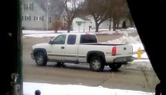 White pickup truck - HTT 365/143 (Maenette1) Tags: pickuptruck white snow neighborhood menominee uppermichigan happytruckthursday flicker365 michiganfavorites project365