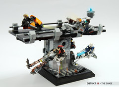 District 18 - The chase (Faber Mandragore) Tags: lego moc speeder speederbike contest district18 district 18 diorama dio scene chase lsb faber mandragore fabermandragore