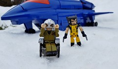 Finding some mutants (aka_patch) Tags: xmen xavier blackbird wolverine snow mutant minimate marvel