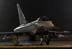 ZK368 - Night (np1991) Tags: royal air force raf lossiemouth lossie moray scotland united kingdom uk eurofighter typhoon fgr4 nikon digital slr dslr d7100 camera sigma 50500mm 50 500 50500 aviation planes aircraft night iiac ii two 2 army cooperation ac squadron sqn zk368 shiny2