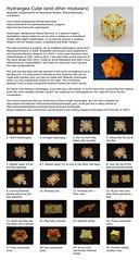 Hydrangea Cube instructions (Michał Kosmulski) Tags: origami modular unit hydrangea cube icosahedron sonobe folding instructions diagram tutorial michałkosmulski meenakshimukerji fractal