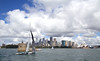 Sails on the harbour (LSydney) Tags: harbour sydneyharbour sails boat sailingboat city clouds sydney sydneyoperahouse
