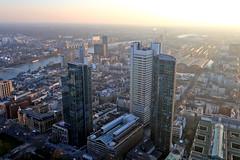 Frankfurt (bcmng) Tags: frankfurt frankfurtskyline frankfurtskyscraper frankfurthighrise frankfurtsunset germanarchitecture deutschearchitektur frankfurtmesseturm ezb ezbfrankfurt ezbneubau coophimmelblau main mainriver maintower aerialview aerial aerialphotography