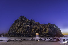 Pfeiffer Beach at Twilight (jothish_gr) Tags: california clouds rock wave cliff ocean pacific coast highway1 highway bigsur landscape seascape sea keyhole arch keyholearch pfeiffer beach waves breeze sunset twilight stars sky blue longexposure nikon d750 texas travel india