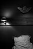 Insomnie (cactus2016) Tags: noiretblanc nuit blackandwhite lit bed bedroom hôtel naturemorte