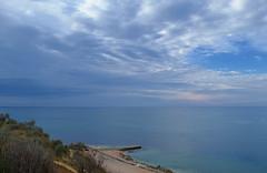 Reflecting Black sea II (МирославСтаменов) Tags: crimea sevastopol seashore seascape coast overlook slope horizon cloudscape sky sunset