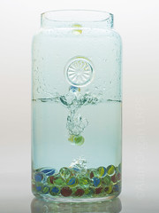 Marbles Falling Into A Vase (AlanOrganLRPS) Tags: marbles vase water splash studio