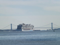 Norwegian Breakaway, Cruise Ship,Verrazzano Bridge, Hudson River, New York City (lensepix) Tags: norwegianbreakaway cruiseship hudsonriver newyorkcity ship