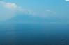 Lago de Atitlán - Guatemala (TLMELO) Tags: lagodeatitlán volcánatitlán guatemala água lago lake atitlanlake boat barco blue azul vulcão volcano mount montanha fire lava morning manhã eruption erupção fumaça smoke