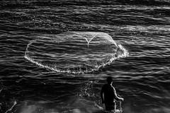Pescador - Fisherman (mariohowat) Tags: pescador fisherman monochrome pretoebranco pb brasil brazil bw blackandwhite blancoynegro riodejaneiro quebramar