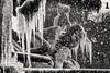 Iced splashes (Stefano Avolio) Tags: ice ghiaccio roma rome fontanadellenaiadi fontana fountain splashes schizzi esedra piazzadellarepubblica repubblica stefanoavolio savolio bw blackwhite blackandwhite bianconero bn