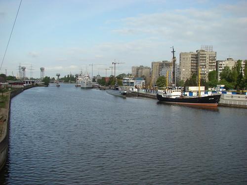 Корабли на реке Преголе и Музей мирового океана ©  ayampolsky