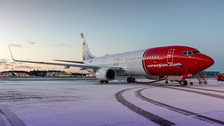Norwegian 737 At Stockholm.