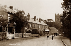Ardleigh (footstepsphotos) Tags: ardleigh essex road church boy people old vintage postcard past historic