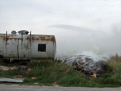 Theatre (drager meurtant) Tags: tank smoke fire rural environment burning dragermeurtant northernfrance