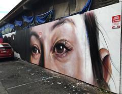 Ponytail Suprise by Drew Merritt (wiredforlego) Tags: graffiti mural streetart urbanart aerosolart publicart hawaii oahu honolulu powwowhawaii powwow drewmerritt