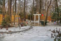 Back Yard Landscape (hank278) Tags: yard trees snow photoaday pad highdynamicrange hdr