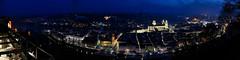 Vorfrühlingsnacht über Passau (Helmut Reichelt) Tags: vorfrühlingsnacht nacht abend lichter oberhausberg aussichtspunkt passau stadt dom mariahilf inn spiegelung donau schiffe donauradwanderweg märz niederbayern bavaria deutschland germany leica leicam typ240 captureone11 colorefexpro4 leicasummilux35mmf14asphii pasov europe evropa nemecko brd panorama