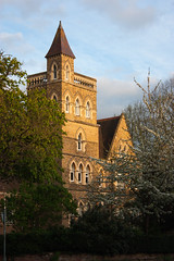 oxford english center sunset light (Jillian Kern) Tags: historical architecture spire tower brick sunset oxford england