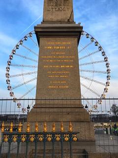 Paris  France - The Luxor Obelisk - Place de la Concorde - Historical Monument 1936 - The Roue de Paris
