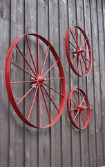 The Wheels Go 'Round (Rosemary Komori) Tags: rural red