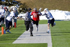 Out of the way, ref! (stephencharlesjames) Tags: college sports ball sport lacrosse referee middlebury vermont plattsburgh ncaa
