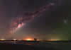 Milky Way over Island Point, Western Australia (inefekt69) Tags: island point mandurah collins pool milky way skytracker ioptron cosmology southernhemisphere cosmos southern westernaustralia australia dslr longexposure rural nightphotography nikon stars astronomy space galaxy astrophotography outdoor milkyway core great rift 50mm d5500 panorama stitched mosaic tree water lake inlet nature silhouette landscape msice hoya red intensifier didymium filter magellanic clouds large small carina nebula airglow