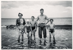 August 1960 (1) (Colin John Ford) Tags: found old vintage family seaside beach 1960 august kids children